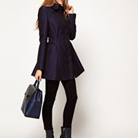 ASOS Jacquard Dolly Coat at asos.com