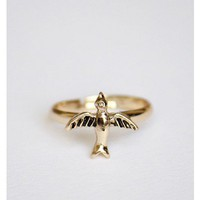 Ting Bird Ring Gold