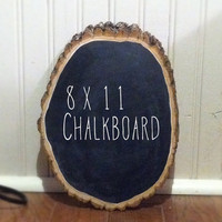 Wood Chalkboard Plaque- Medium