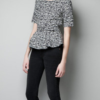 BELTED JACQUARD TOP - Woman - New this week - ZARA United States