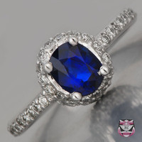 Estate Rings - Sapphire Estate Engagement Ring