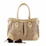 Fashionable Womens Leather Tote Bag Apricot  -  BuyTrends.com