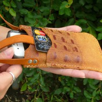 iPhone 4S Leather Case Crossbody w Card Pocket by FleurdeLeather on Zibbet