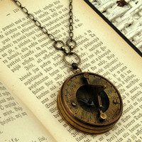 Sun Dial Necklace by ragtrader on Etsy