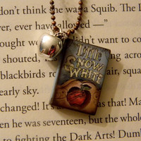 Snow White Necklace. Mini Book With Charm. 18 Inch Chain. Ready To Ship.