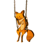 Fox on a Swing Necklace by LuyiAndBubs on Etsy