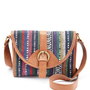 Charlotte Russe - Tribal-Stitch Cross Body Purse