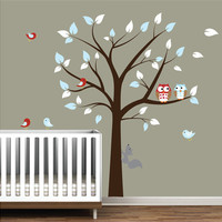 Children Vinyl Wall Decal Nursery Tree Wall by Modernwalls on Etsy