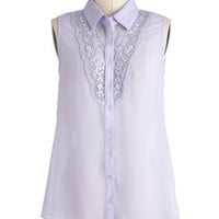 Violets Stick Together Top | Mod Retro Vintage Short Sleeve Shirts | ModCloth.com