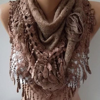 Gorgeous Scarf   Elegant and Classy ...cappuccino brown