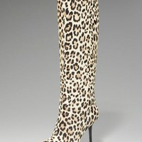 Jimmy Choo Leopard-Print Pull-On Boot