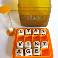 Vintage Boggle Game Family Fun Night by ToucheVintage on Etsy