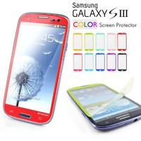 Mercury Color Screen Protector for Samsung Galaxy S3 GT-i9300, Red