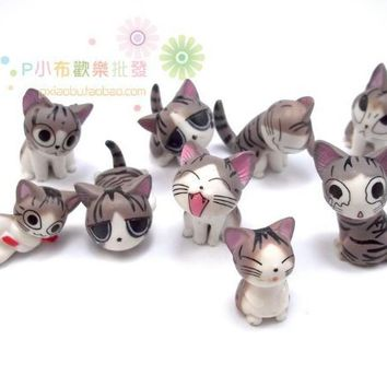 Japan Konami Kanata Cat Phone Charm (9 cats as one package)