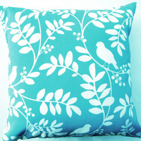 Turquoise Throw Pillow Indoor Outdoor Tiffany by sassypillows