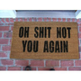 Amazon.com: Oh Shit Not You Again Coir Doormat: Patio, Lawn & Garden