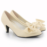 Latest Cute Princess Style Bowknot Apricot Shoes  : Wholesaleclothing4u.com