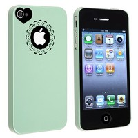 eForCity Snap-on Case Compatible with Apple® Iphone® 4/ 4S, Mint Green Sweet Heart