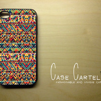 Apple iPhone 5 3D Printed Matte  Case Skin Cover Unique Aztec Pattern Design Available in Black, Clear or White Hard Case.