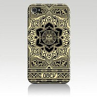 Obey Peace and Justice Ornament Hard Case Skin for Iphone 5 At&t Sprint Verizon Retail Packaging