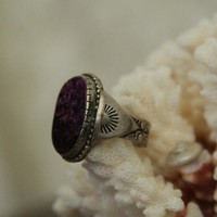 native American Indian ring  purple sugilite by WolfpackTribal