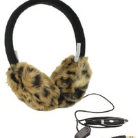 Leopard Earmuff Headphones | Lobers Women&#x27;s Leopard Print Lober