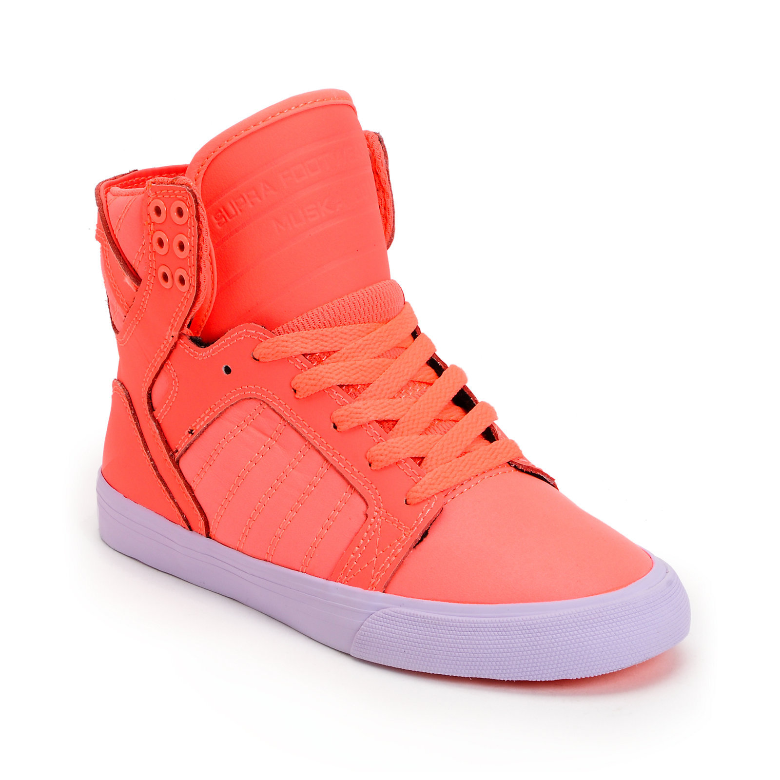 Supra Womens Skytop Neon Coral Leather & From Zumiez