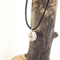 Astrology Zodiac Necklace - Virgo zodiac sign - mens necklace - August September birthday