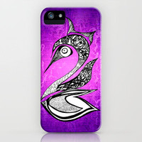 Forest Swan Original Abstract Illustration iPhone Case by Pom Graphic Design  | Society6