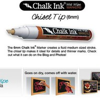 Chalk Ink - Chalkboard Marker - White 6mm