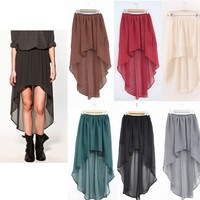 Chiffon Hi-Low Skirt