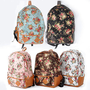 New Women Girl Student Fashion Vintage Cute Flower Schoolbag Campus Bag Backpack