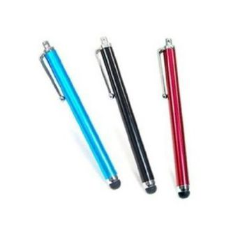 3 pcs Aqua Blue/Black/Red Capacitive Stylus/styli Touch Screen Cellphone Tablet Pen for iPhone 4 4s