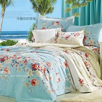 BD0013-03 Super soft short plush bedding suite 4pieces - watching for happiness from House Beauty