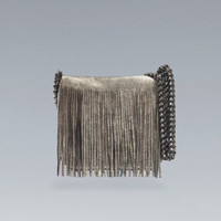 SHINY MESSENGER BAG WITH FRINGE