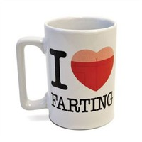 Big Mouth Toys - Talking Mug - I Love Farting