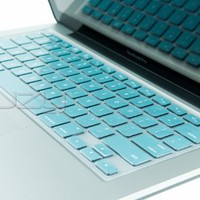 Kuzy - METALLIC AQUA BLUE Keyboard Silicone Cover Skin for MacBook / MacBook Pro 13