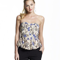 Alana Corset Peplum Top - Fashion Tops - Sportswear - Jessica Simpson Collection