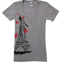 Paris Love Deep V-Neck