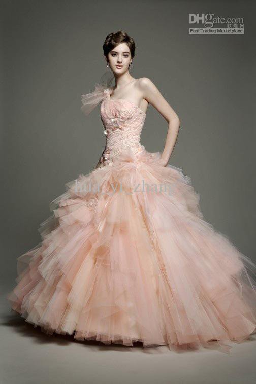 Wholesale modest blush zuhair murad from my gowns for Blush tulle wedding dress