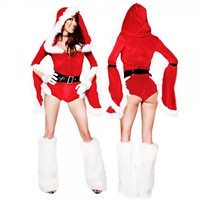 Christmas Cutie Adult Women Sleeve Sexy Costume Dress Free Shipping