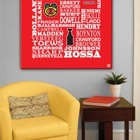 "Typographic Painting on Canvas: ""2010 Chicago Blackhawks"" (24"" x 24"" x 3/4"")"