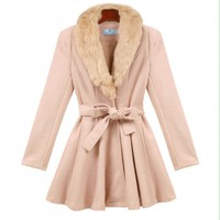 Ladies Elegance Slim Woolen Coat  -  BuyTrends.com