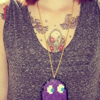 Purple phantom necklace