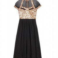 mytheresa.com - Lucy in Disguise - CHAPLIN SEQUINED MIDI DRESS - Luxury Fashion for Women / Designer clothing, shoes, bags