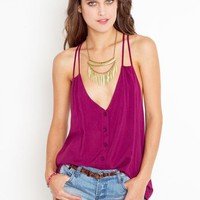 Button Up Tank - Plum in  Clothes at Nasty Gal
