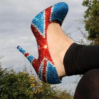 Limited Edition Swarovski Style Union Jack Shoes