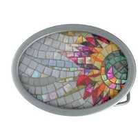 Floral Mosaic Belt Buckle from Zazzle.com
