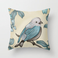 B Bird Throw Pillow by Carina Povarchik | Society6