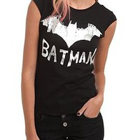 DC Comics Batman Foil Logo Dolman Top - 186244